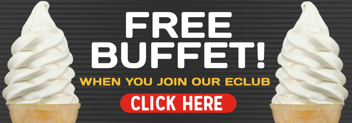 Free Buffet When You Join Our E-Club